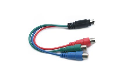 plugins: cable connector Stock Photo