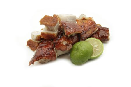 roasted barbecue duck and pork photo