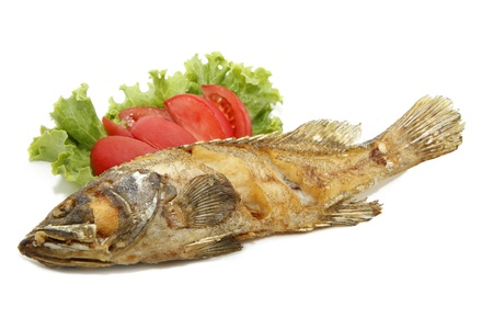 fried grouper fish Stock Photo - 8702902