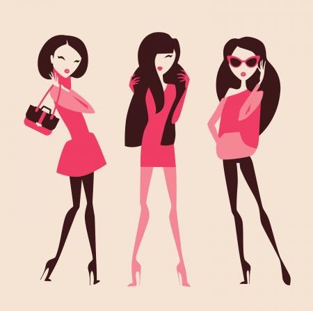fashion collection: fashion girls collection Illustration