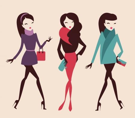 Mode Mädchen Sammlung Standard-Bild - 16082476