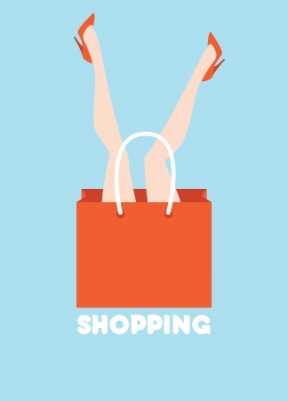 funny shopping concept poster Stock Vector - 16082473