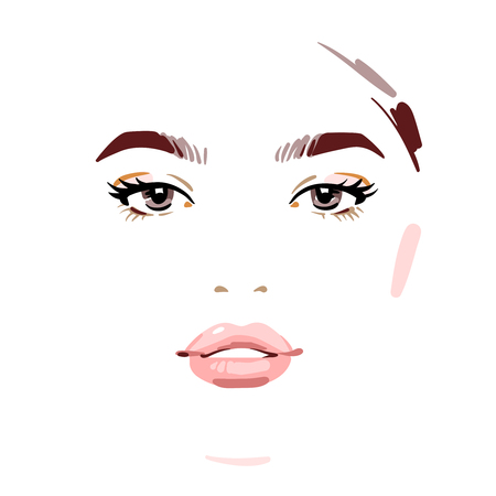 Beautiful woman face. Vector illustration eps 10