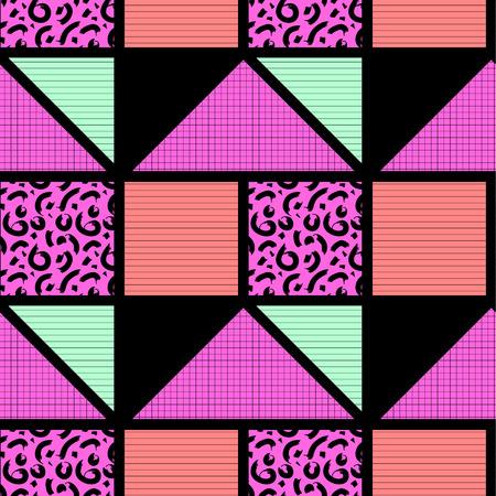 Abstraktes geometrisches nahtloses Muster . Vektor-Illustration EPS 10 Standard-Bild - 82742169