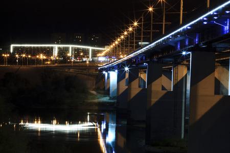 urban scene: night city Kaluga motion