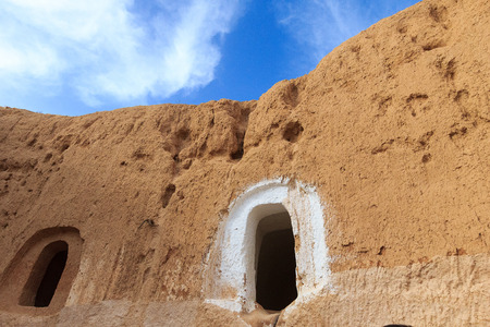 Dwelling Berber at Sahara desert, Tunisia.