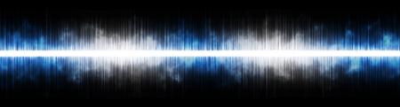 Fondo abstracto. Ecualizador de música de sonido digital con luces de arco iris de colores de onda. Ilustración vectorial Foto de archivo - 84268851
