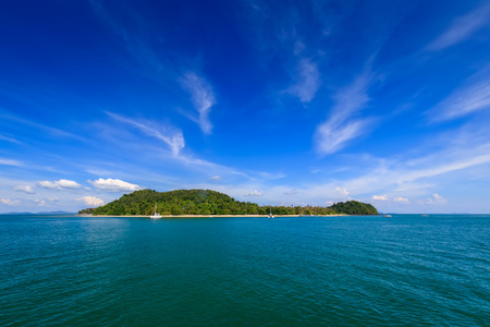 Seascape with islands on a sunny day. Andaman Sea, Thailand, Phuket.