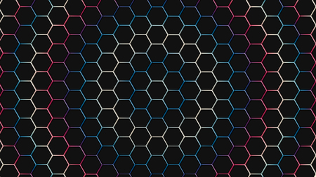 Colorfull hexagonal texture. Abstract background for design. Stock Photo