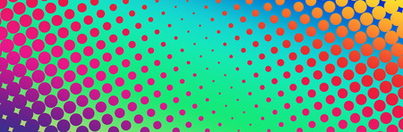 Futuristic abstract background for design. Spectrum color circles with a gradient fill.