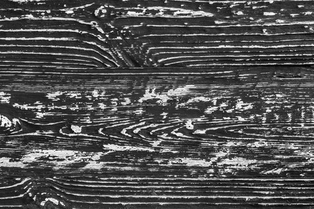 Black and white wooden plank texture. Abstract background for design. Burnt pine board.