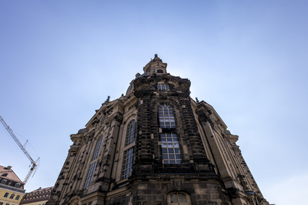 The Dresden Frauenkirche. Lutheran baroque church. Capital of the German state of Saxony.
