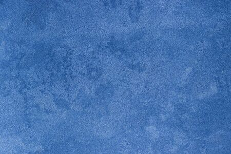 Texture of blue decorative plaster or concrete. Abstract stucco background for design. Art stylized banner with copy space for text.