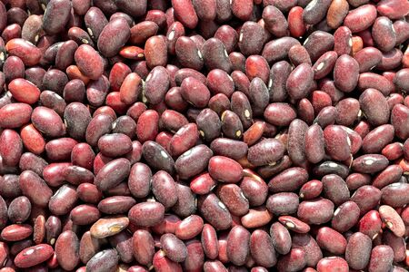 Close up Red bean seeds background. Healthy vegan food. Texture.