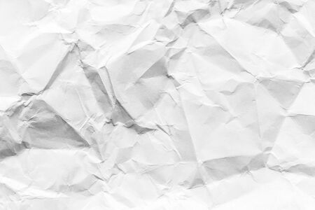 Crumpled white paper texture. Abstract background for design with copy space.
