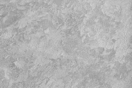 Texture of gray decorative plaster or stucco. Abstract background for design. Art stylized banner with copy space for text. Black and white.
