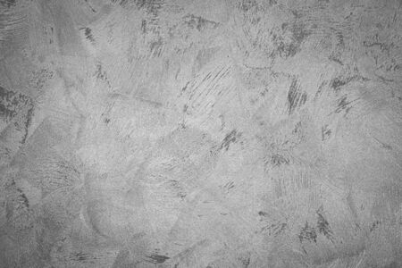 Texture of gray monochrome decorative plaster or concrete. Abstract background for design. Art stylized banner with copy space for text.