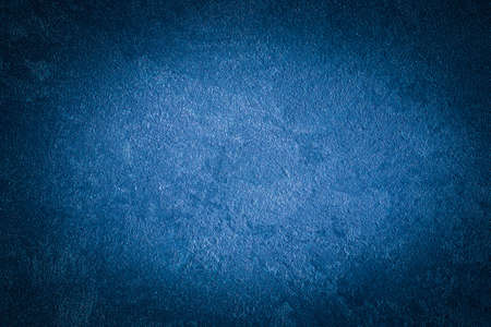Blue decorative plaster texture with vignette. Abstract grunge background with copy space for design. Reklamní fotografie