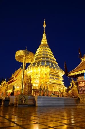 Phra That Doi Suthep, Chiang Mai, Thailand. Standard-Bild
