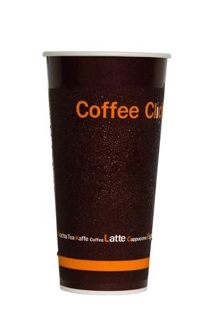 caf� � emporter: tasse de papier