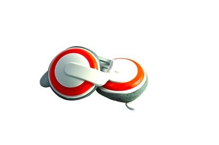 earphone orange photo