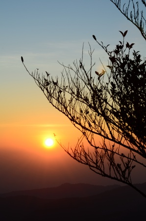 Sunrise in the mountains of northern Thailand. Stock Photo - 9431085