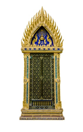 door leaf: Thai temple window.