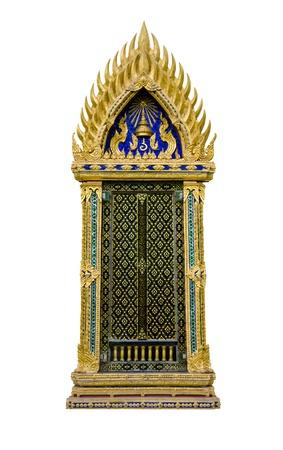 asian angel: Thai temple window.