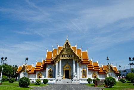 marble palace: Wat Benchamabopitr Dusitvanaram, Bangkok, Thailand