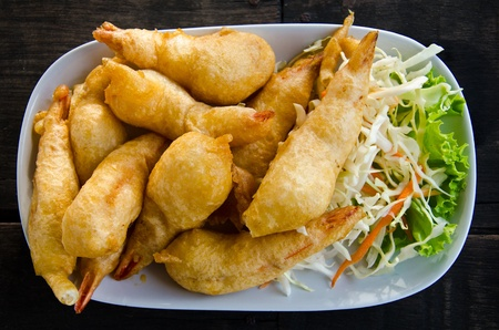 Fried prawn  Standard-Bild
