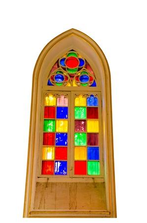 vetrate colorate: Decorato con vetrate.