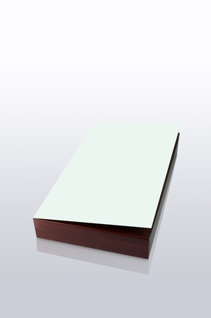 Brown box and with a  white lid. Isolated on a White Background photo