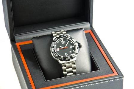 Wristwatch in the box. 写真素材