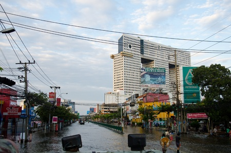 BANGKOK THAILAND � NOVEMBER 13: Scenes from Bangkok during its worst flooding in decades is a major disaster on November 13, 2011  in Bangkok, Thailand.