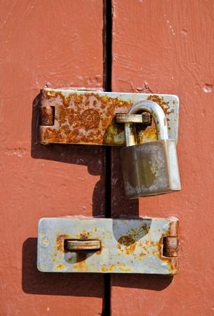 Lock to lock the door. photo