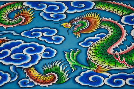 beliefs: Drawing a dragon. According to Chinese beliefs.