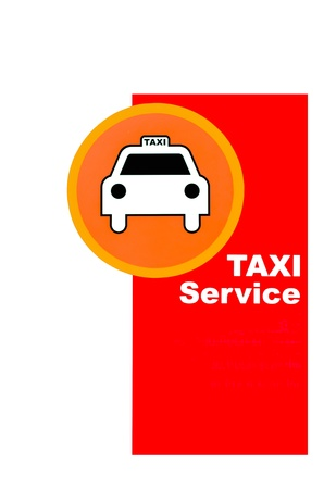 Symbol is taxi parking  photo