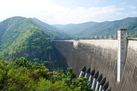 Dam of hydroelectric power station and irrigation. Stock Photo - 11869127