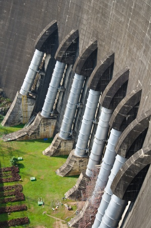 Dam of hydroelectric power station and irrigation. photo