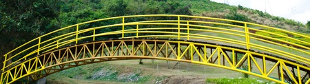 Steel bridges in yellow. photo