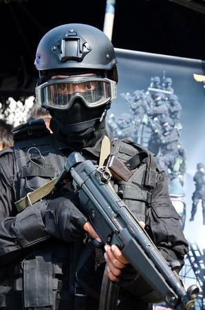 BANGKOK - JANUARY 14 : Special Forces units on display at Don Muang Airshow, January 14, 2012, Don Muang Airport, Bangkok, Thailand.  Editorial