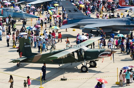 BANGKOK - JANUARY 14 : Scenes of aircraft on display at Don Muang Airshow, January 14, 2012, Don Muang Airport, Bangkok, Thailand.