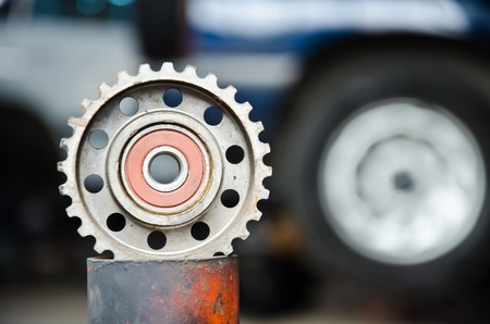 Gear is a component of the machinery. photo