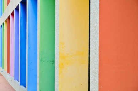 Concrete walls are many colors. Stock Photo - 12308279