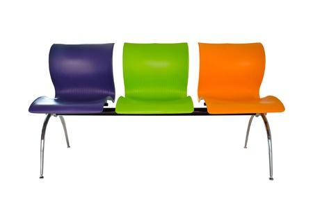 Modern colorful seats. Stock Photo