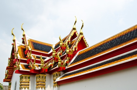 Roof of Buddhist temple. photo