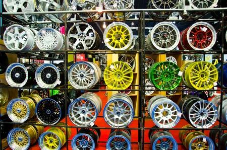 magneto: BANGKOK - MARCH 27: Magneto wheels on display at The 33th Bangkok International Motor Show  on March 27, 2012 in Bangkok, Thailand.