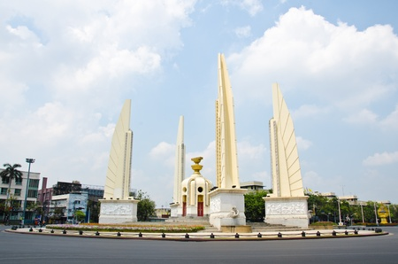 The Democracy Monument  Anusawari Prachathipatai  is a public monument in the centre of Bangkok, Thailand