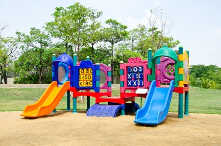 Colorful playground in a city photo