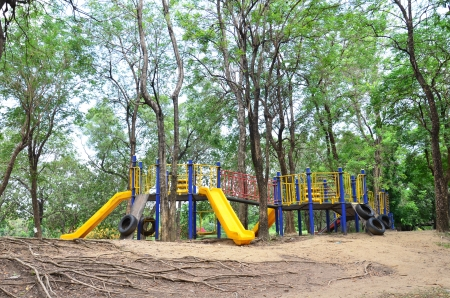 Colorful playground in park Stock Photo - 13639504
